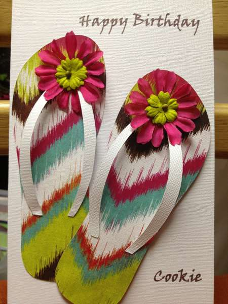 Multi-colored flip-flops