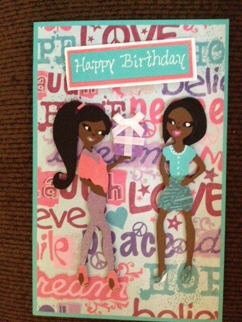 Teen scene birthday card