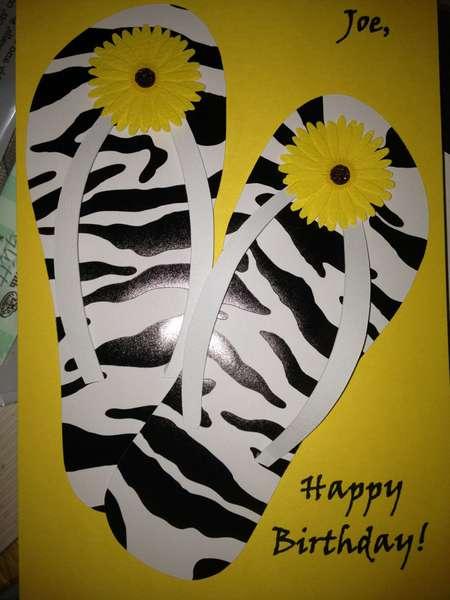 Flip flop b-day card