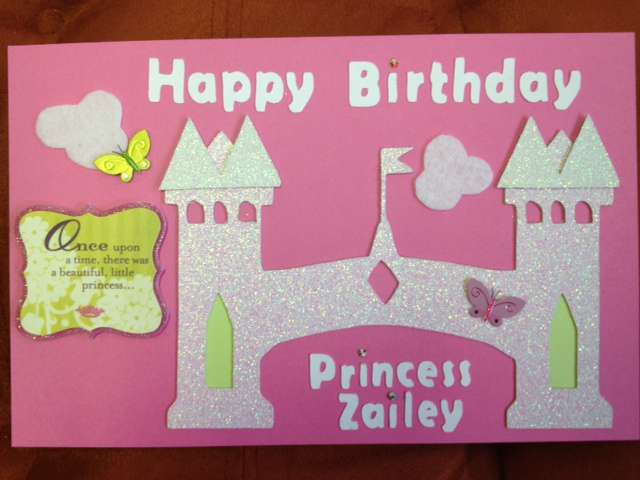 Little Girl B-day card