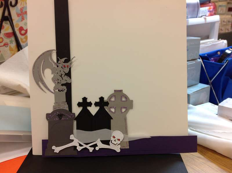 Ghosts/Skeletons/Graveyards Category Scrapbook Page Embellishment