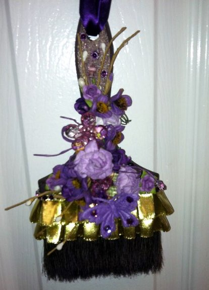 Altered purple paintbrush