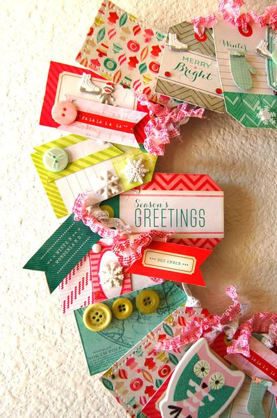 Sleigh Ride Tag Wreath