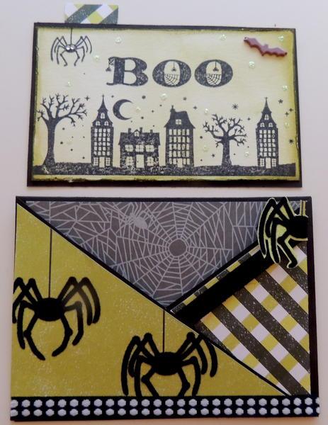 Cross cut Halloween Card
