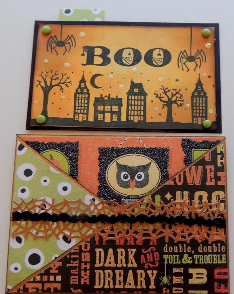 Cross cut Halloween card with insert