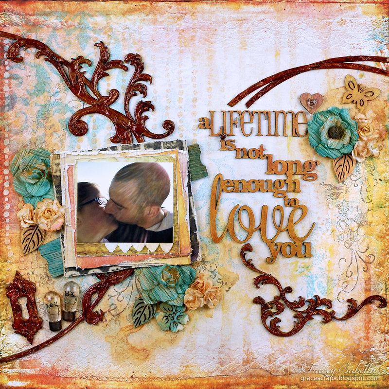 A Lifetime Is . . . For Helmar with Rusty MAcetal Chipboard Tutorial