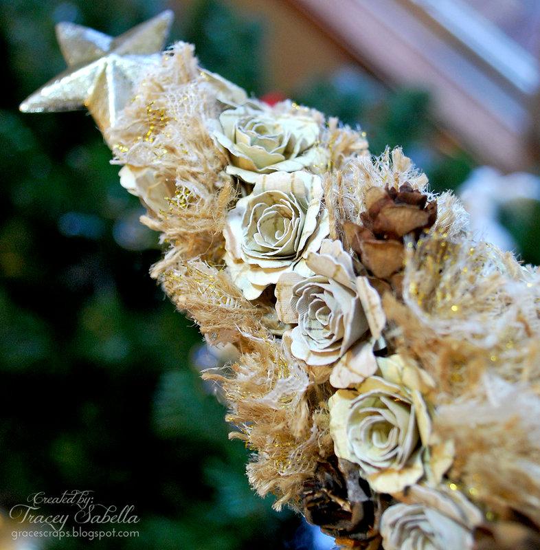 Blossom and Burlap Christmas Tree for Donna Salazar