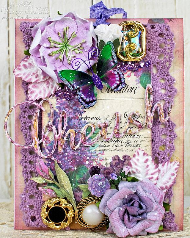 """Cherish"" Wedding Card ~ DT for Helmar"