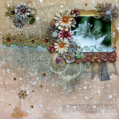 """""""December Snow"""" for Leaky Shed Studio / BoBunny Product Swap"""