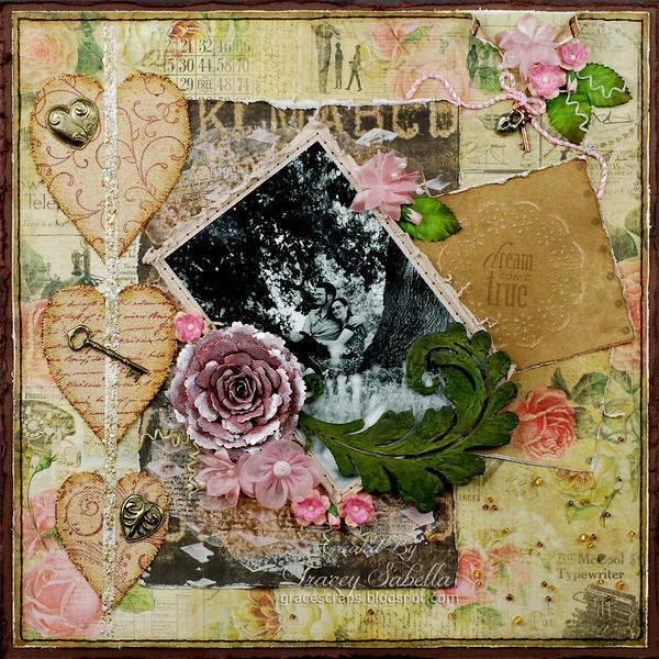 """""""Dream Come True"""" ***ScrapThat! February """"With Love"""" Kit Reveal DT***"""
