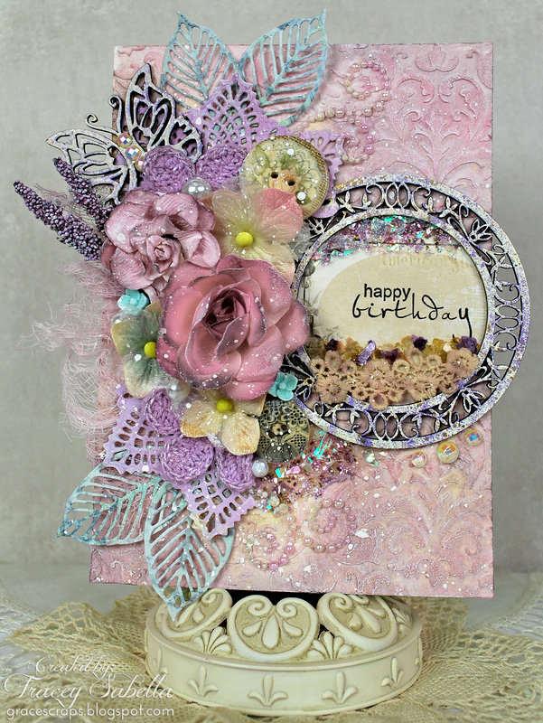 Floral Birthday Card ~ DT for Leaky Shed Studio