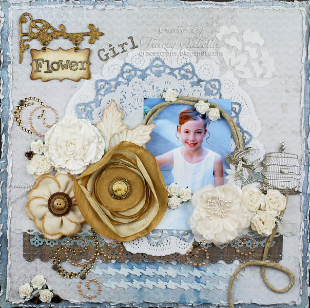 """Flower Girl"" **ScrapThat! April Kit Reveal DT**"
