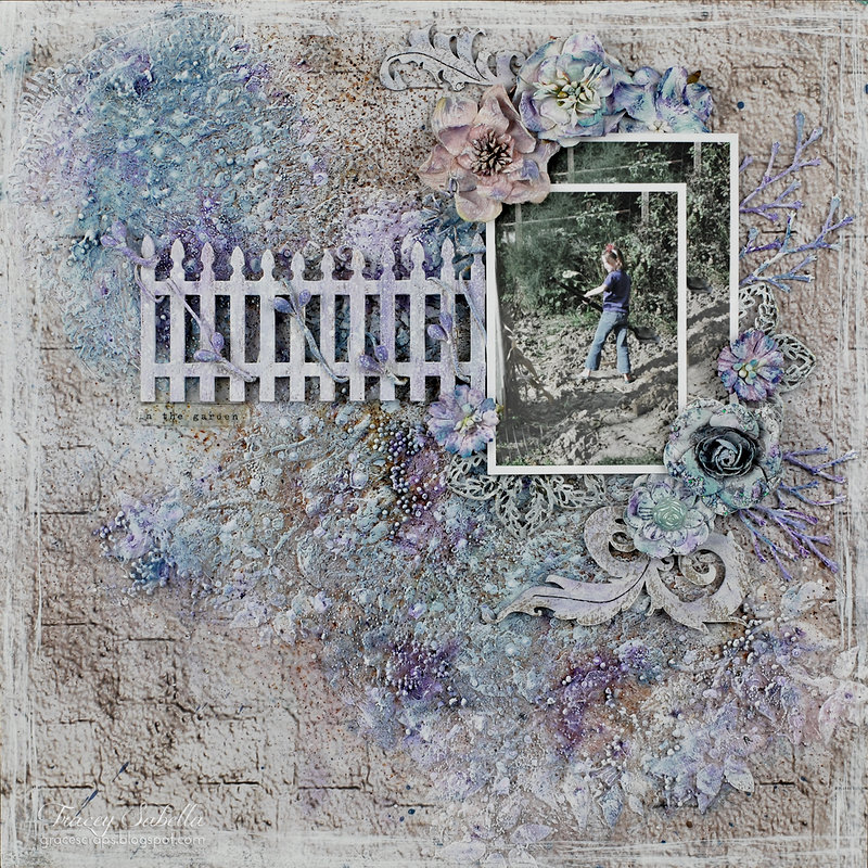 """""""In the Garden"""" ~ DT for Helmar Featuring Leaky Shed Studio Chipboard"""