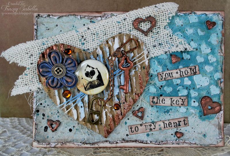 """""""Key to My Heart"""" card ~ DT for Donna Salazar"""
