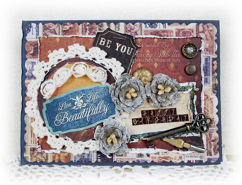 Live Life Beautifully Birthday Card