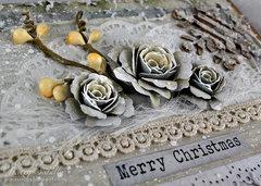 Girlie Grunge Christmas Card DT for Donna Salazar