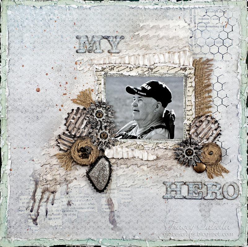 """My Hero"" DT for Donna Salazar Designs"