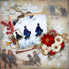 "Sledding ~~~ScrapThat! December ""Memories . . ."" DT~~~"