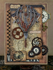 Grungy Steampunk Card for Leaky Shed Studio