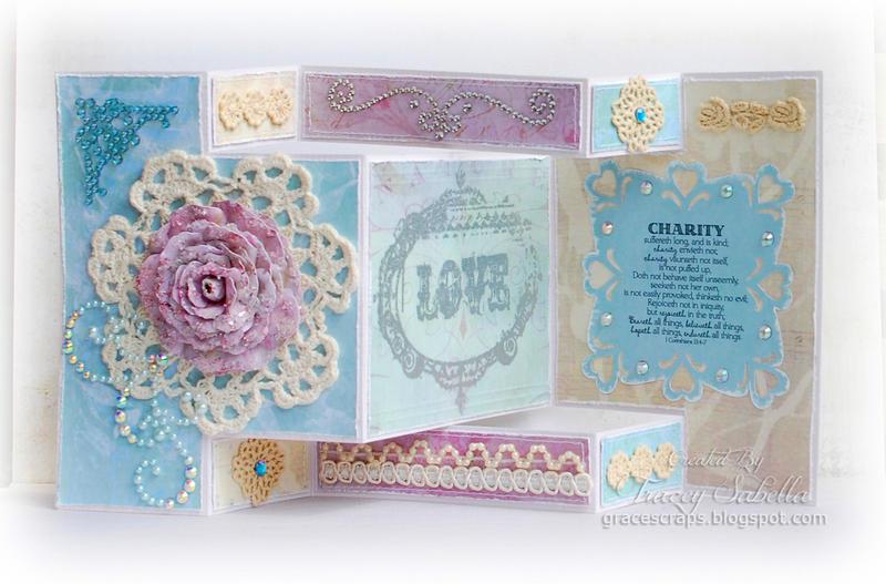 Tri-Shutter Wedding Card *****Word Art Wednesday GDT*****