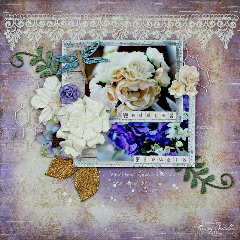"""Wedding Flowers"" ~ DT for Helmar & Leaky Shed Studio"