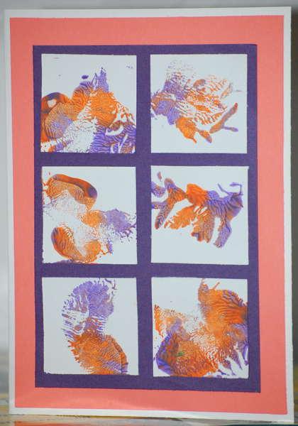 Purple and orange card