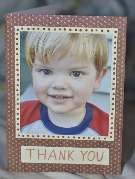 Thank You little boy card