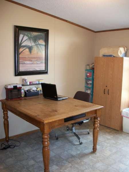 Nice big table no more folding table!!!!