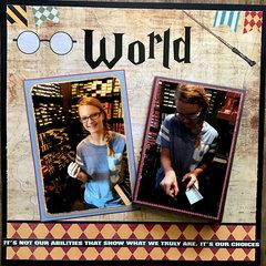 World with flip fold book