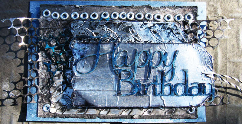 Happy Birthday card (Scrap Fx and Gauche Alchemy)