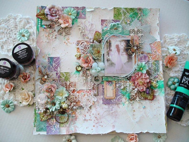 Fairylicous Scrapbook Layout