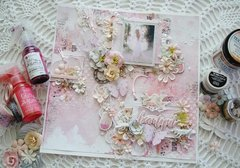 Layout using Prima's new Cherry Blossom & Love Story Collection