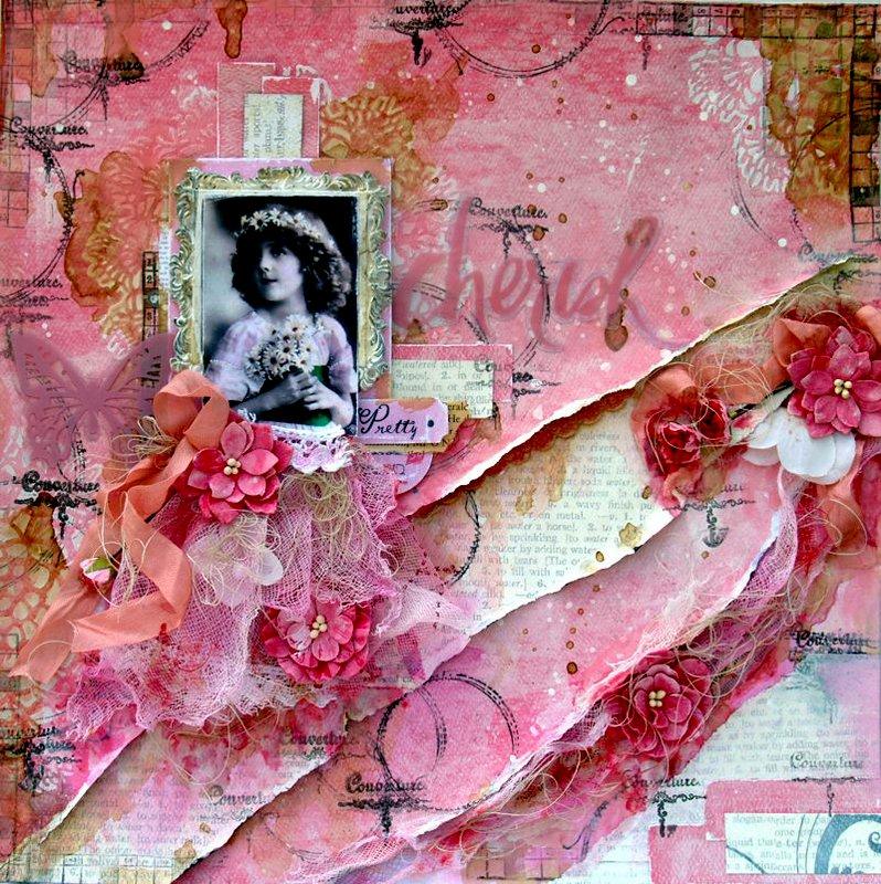 Pretty Girl - August SOE Raindrops On Roses Kit