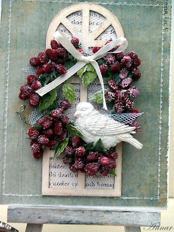Card with wreath