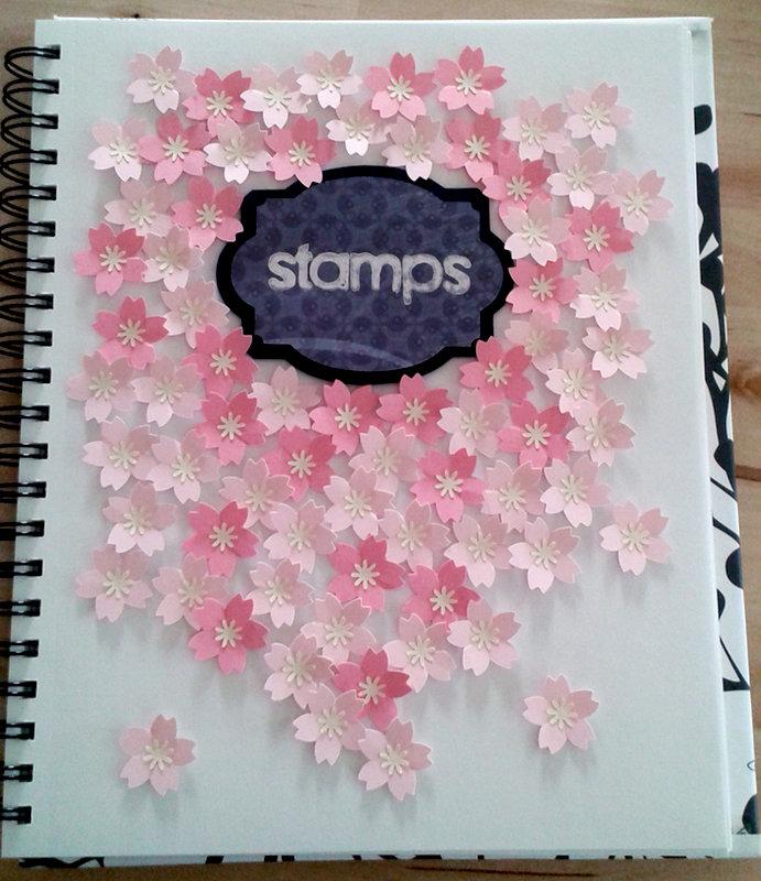 Stamp storage in notebook