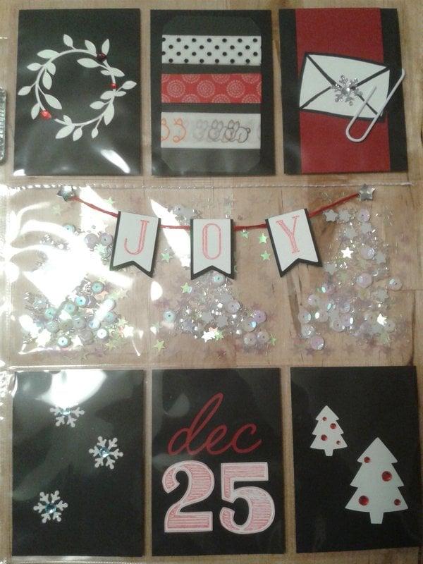 Black and White Christmas pocket letter