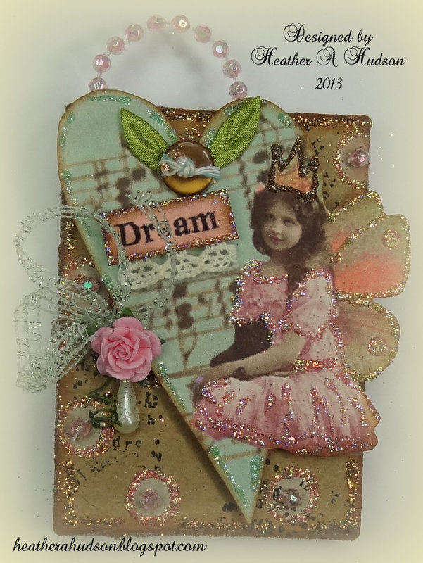 Dream Fairy Tiny canvas Gecko Galz Really Reasonable Ribbon & Art Glitter DT works