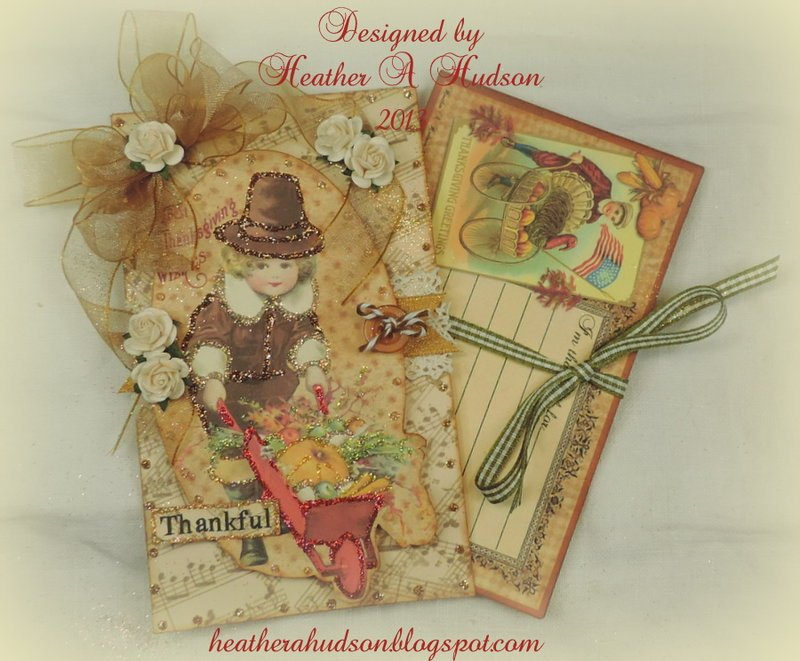 "Thanksgiving ""Thankful For"" Family Tradition Card set"
