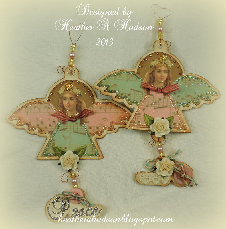Vintage Shabby Chic Victorian Christmas Angel Ornaments