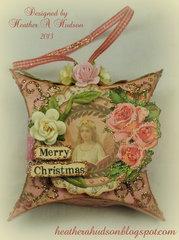 Vintage Inspired Pillow Box Christmas Tag