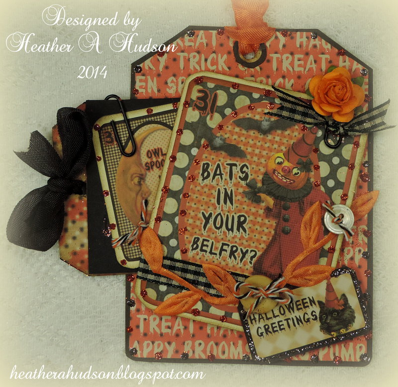 Vintage Halloween Spooktacular Tag for My Artistic Adventures  Halloween Challenge