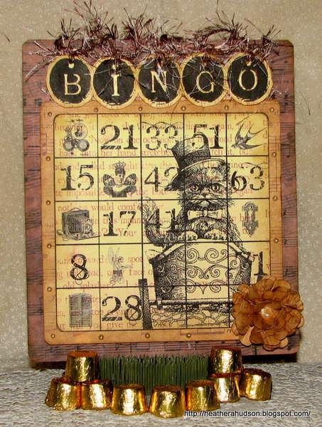 BINGO~ Gecko Galz Blog Hop (card with tag)