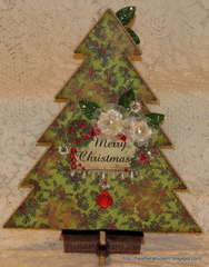 Vintage Chic Count down to Christmas Calendar BACK