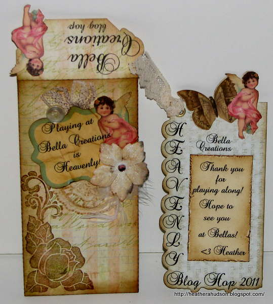 """Bella Creations """"Heavenly"""" Envelope and Tag Card"""