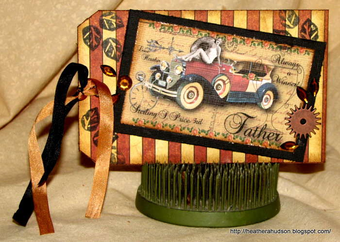 Bella Creations Gecko Galz Challenge Father's Day Card