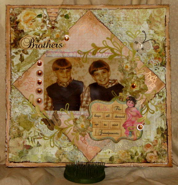"Bella Creations DT SKetch Layout ""Brothers"""