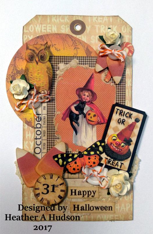 Vintage Inspired Halloween Tag