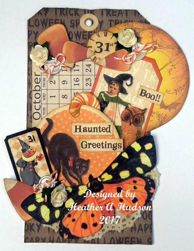 Vintage Inspired Halloween Tag