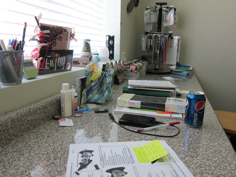 My Messy counter.....
