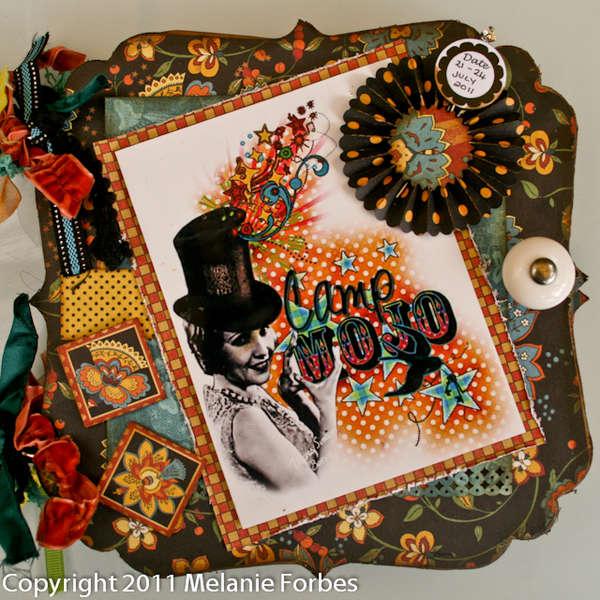 Want 2 Scrap Graphic 45 DT blog hop Mini Album - CAMP MOJO